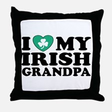 I Love My Irish Grandpa Throw Pillow