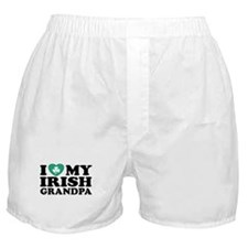 I Love My Irish Grandpa Boxer Shorts