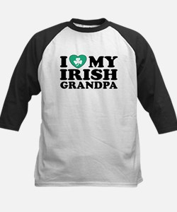 I Love My Irish Grandpa Kids Baseball Jersey