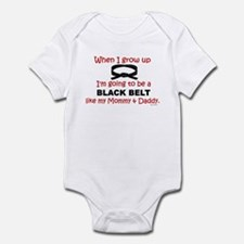Black Belt Like My Mommy & Daddy Infant Bodysuit