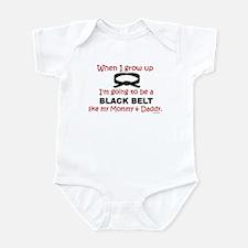 Black Belt Like My Mommy & Daddy Onesie