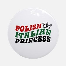Polish Italian Princess Ornament (Round)