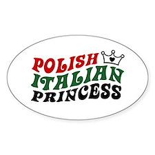 Polish Italian Princess Oval Decal