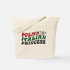 Polish Italian Princess Tote Bag