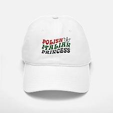 Polish Italian Princess Baseball Baseball Cap