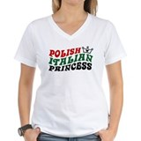 Polish italian Womens V-Neck T-shirts