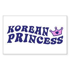 Korean Princess Rectangle Decal