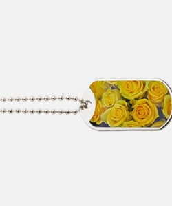 Unique Yellow rose Dog Tags