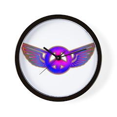 Peace Wing Groovy Wall Clock