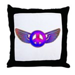 Peace Wing Groovy Throw Pillow