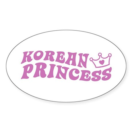 Korean Princess Oval Sticker