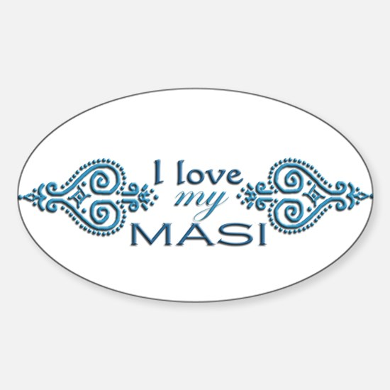 Blue Mendhi - Masi Oval Decal