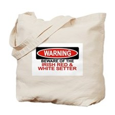 IRISH RED  WHITE SETTER Tote Bag