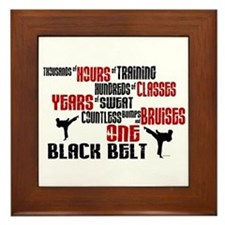 ONE Black Belt 2 Framed Tile