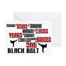 ONE Black Belt 2 Greeting Cards (Pk of 10)