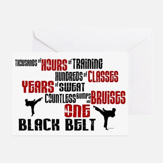 ONE Black Belt 2 Greeting Card