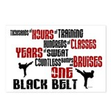 Tae kwon do black belt Postcards