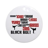 One black belt Round Ornaments