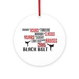 One black belt Ornaments