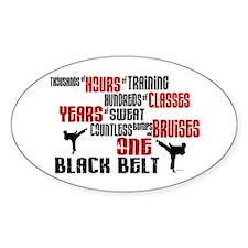 ONE Black Belt 2 Oval Decal