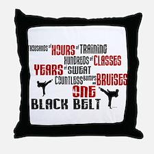 ONE Black Belt 2 Throw Pillow