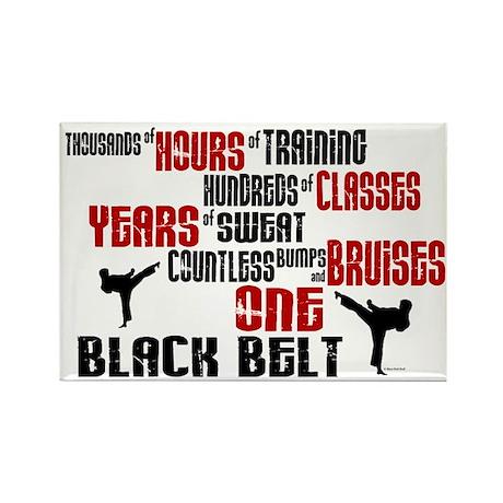 ONE Black Belt 2 Rectangle Magnet