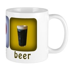 Peace, Love, and Beer Mug