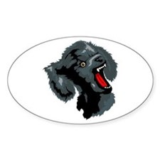 Poodle Oval Decal