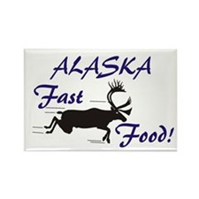 Alaska Fast Food Rectangle Magnet