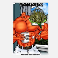 Unique Musclehedz Postcards (Package of 8)