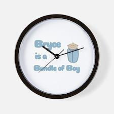 Bryce is a Bundle of Boy  Wall Clock