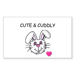 BUNNY FACE Rectangle Decal