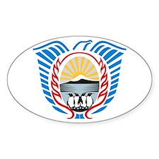 Tierra Del Fuego Coat of Arms Oval Decal