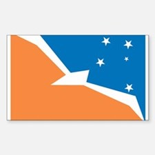 Tierra Del Fuego Flag Rectangle Decal