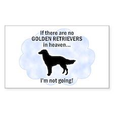 Golden Retrievers In Heaven Rectangle Decal