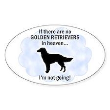 Golden Retrievers In Heaven Oval Decal