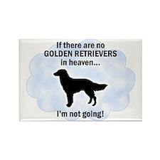 Golden Retrievers In Heaven Rectangle Magnet