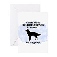 Golden Retrievers In Heaven Greeting Cards (Pk of