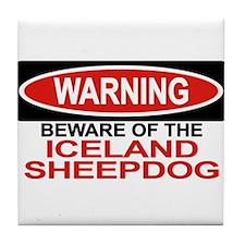 ICELAND SHEEPDOG Tile Coaster