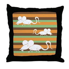Chinese Year of the Rat Throw Pillow