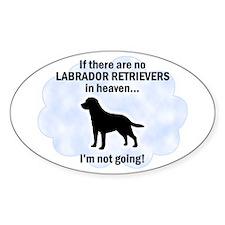 Labrador Retrievers In Heaven Oval Decal