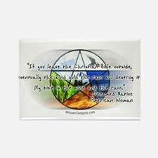 'Wind & Rain Quote' Rectangle Magnet