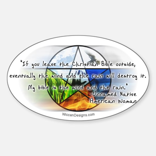 'Wind & Rain Quote' Oval Decal