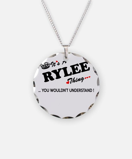 RYLEE thing, you wouldn't un Necklace Circle Charm