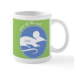 2008 Year of the Rat Ceramic Coffee Mug