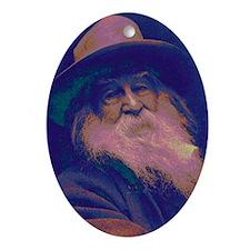 Walt Whitman Oval Ornament