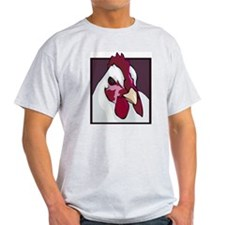 White Chicken Ash Grey T-Shirt