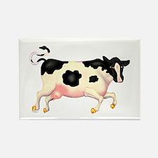 Dairy Cow Running Rectangular Magnet