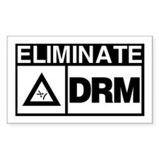 Eliminate DRM NOW! Rectangle Decal