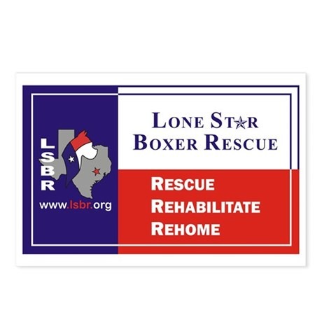 Lone Star Boxer Rescue Postcards (Package of 8)